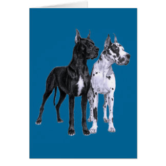 Great Danes Drawing Card