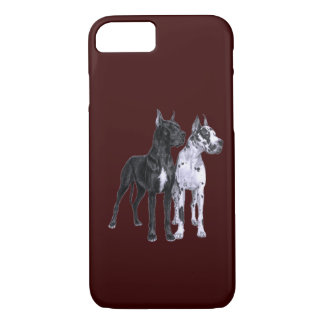 Great Danes Drawing iPhone 7 Case