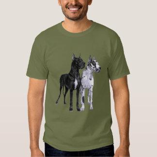 Great Danes Drawing Tee Shirts