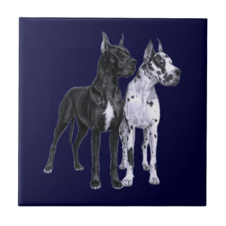 Great Danes Drawing Tile