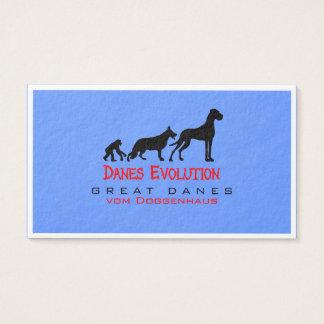 Great Danes Evolution Business Card