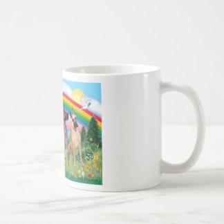 Great Danes (four) - Rainbow Bright Classic White Coffee Mug