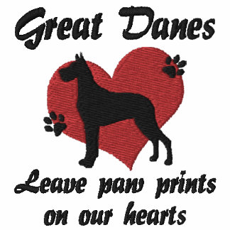 Great Danes Leave Paw Prints Embroidered Sweatshirt