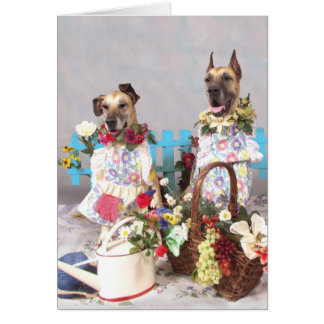 Great Danes May Garden Card