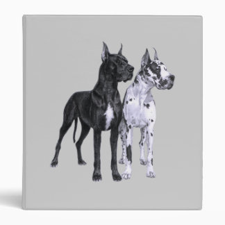 Great Danes Pencil Drawing 3 Ring Binder