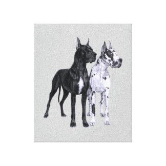 Great Danes Pencil Drawing Canvas Print