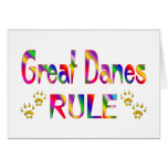 Great Danes Rule Greeting Cards