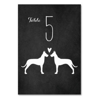 Great Danes Wedding Table Card
