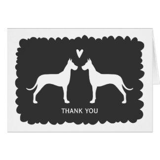 Great Danes Wedding Thank You Card