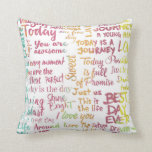 Great day painted pillow