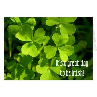 Great Day to Be Irish, Greeting Card