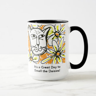 Great Day to Smell the Daisies-Esther Nowell Mug