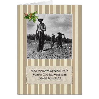 Great Depression Dirt Farmer Holiday Card