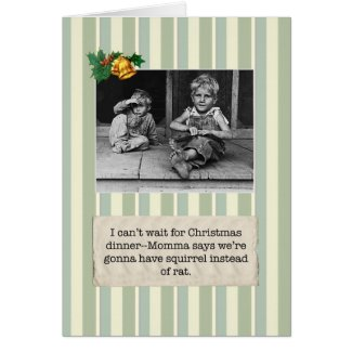 Great Depression Squirrel Holiday Cards
