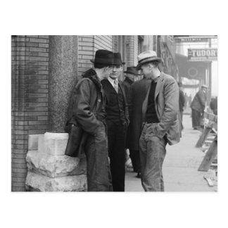 Great Depression Unemployed Postcard