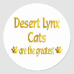 Great Desert Lynx Classic Round Sticker