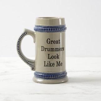 Great Drummers Look Like Me 18 Oz Beer Stein