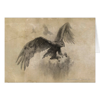 Great Eagles Sketch Greeting Cards