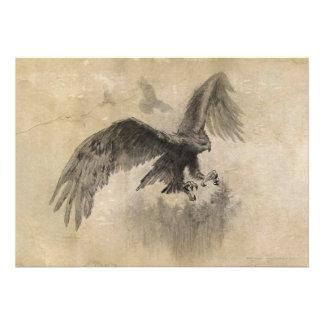 Great Eagles Sketch Personalized Invite