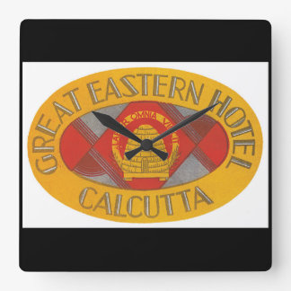 Great Eastern Hotel Calcutta_Vintage Travel Poster Square Wall Clock