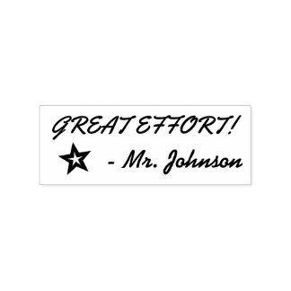 """GREAT EFFORT!"" Educator Rubber Stamp"