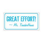 "[ Thumbnail: ""Great Effort!"" Teacher Feedback Rubber Stamp ]"