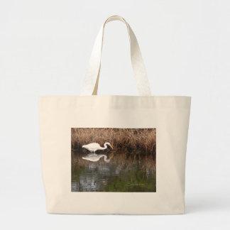 Great Egret 1 Large Tote Bag