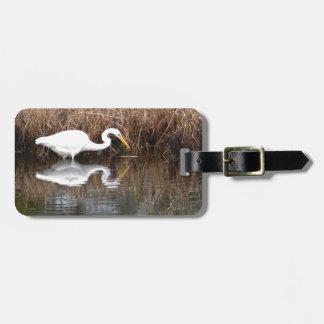 Great Egret 1 Luggage Tag