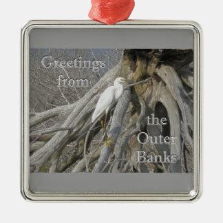 Great Egret (Ardea alba) OBX Ornament Greetings