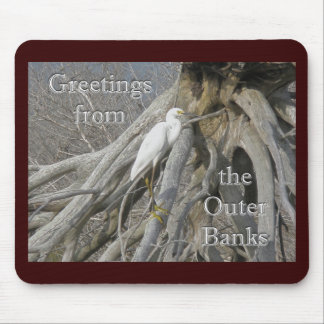 Great Egret (Ardea alba) OBX Outer Banks Mouse Pad