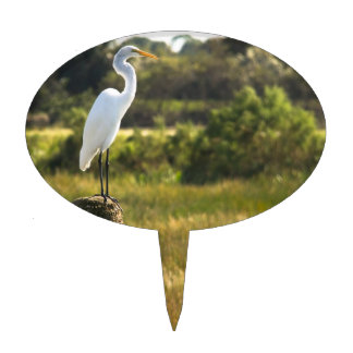 Great Egret at Viera Wetlands Cake Topper