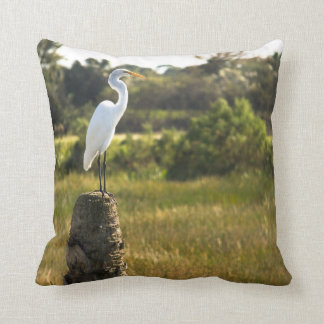Great Egret at Viera Wetlands Pillow