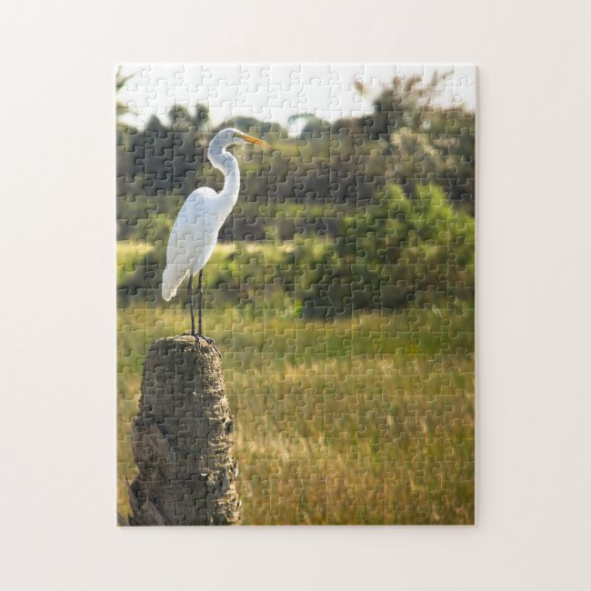 Great Egret at Viera Wetlands Puzzle