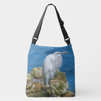 Great Egret at Water's Edge Crossbody Bag