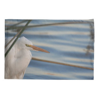 Great Egret Bird Animal Wildlife Pillowcase