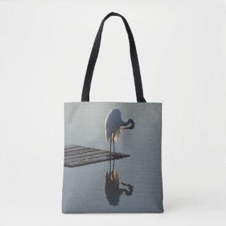 Great Egret Bird Wildlife Animals Tote Bag