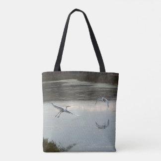 Great Egret Birds Wildlife Animals Tote Bag