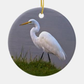 Great Egret Christmas Ornament