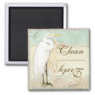 Great Egret Coastal Beach - Dishwasher Magnet