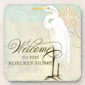 Great Egret Coastal Beach - Welcome to our Home Coaster
