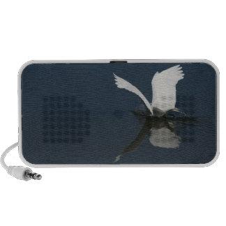 Great Egret Fishing Doodle Speaker