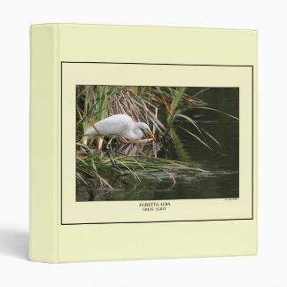 Great Egret Habitat Avery Binder