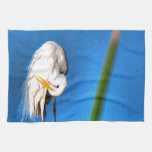 Great Egret HDR Photograph Hand Towel