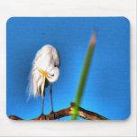 Great Egret HDR Photograph Mousepad