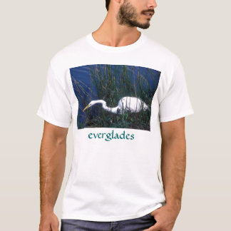 Great Egret hunting, Everglades National Park T-Shirt