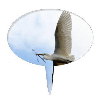 Great Egret in Flight Cake Topper