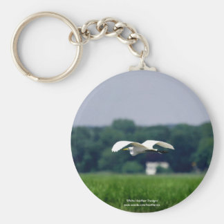 Great Egret in flight - Keychain