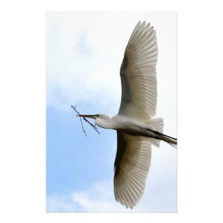 Great Egret in Flight Stationery