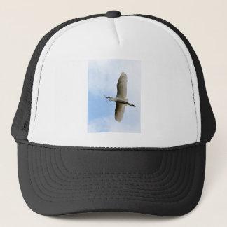 Great Egret in Flight Trucker Hat
