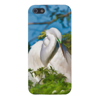 Great Egret in Motherhood Moment Case For iPhone 5